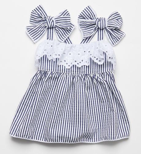 8f373243f5ec Vestido rayas azul y blanco de Fina Ejerique (P19)   Margarita and Co